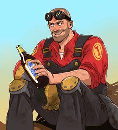 """""""Wanna beer, boy?"""" - TF2. Engineer"""