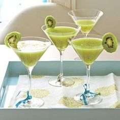 Wedding cocktail. Kiwi Cocktail Recipes by brandy