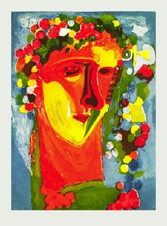 'Bacchus', 2000, color etching - Sandro Chia