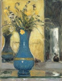"vuillard flowers | Left: "" Vase of Flowers "" (1903) Right: "" Le Vase Bleu """