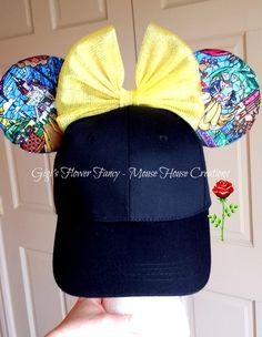 Beauty and The Beast Ears Anna Disney, Disney Diy, Cute Disney, Disney Style, Disney Ideas, Disney Crafts, Disney Magic, Disney Mickey Ears, Mickey Mouse