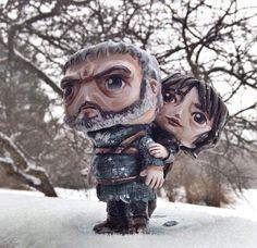 Custom Corner: Hodor + Bran
