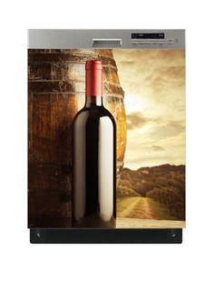 Naklejka na zmywarkę - Wino w winnicy 6529