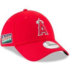 da67ed151689a Men s Los Angeles Angels New Era Red 2019 Mexico Series 39THIRTY Flex Hat