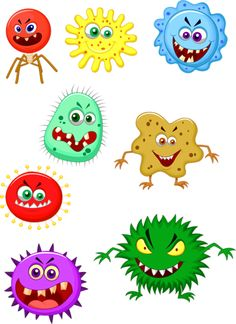 Vector illustration of Virus cartoon collection set - The Effective Pictures We Offer You About salute wallpaper A quality picture can tell you many thi - Cartoon Cartoon, Germs For Kids, Teaching Kids, Kids Learning, Germ Crafts, Hand Washing Poster, Art For Kids, Crafts For Kids, Flashcards For Kids