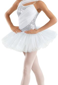 Pretty for a ballet routine! I like the glittery parts!