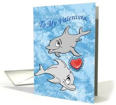 Valentine's Day Dolphins | Fish / Sea Life | Greeting Card Universe