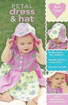 Petal Dress and Hat Pattern - Shop for it at www.valliandkim.com