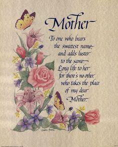 Mother Tribute Poem Birthday In Heaven Mom Poems