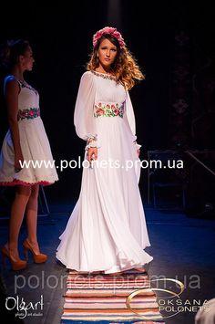 красивое платье в украинском стиле