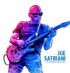 Joe Satriani by GarciaCruz on deviantART John Petrucci, Joe Satriani, Rock Poster, Steve Vai, Summer Songs, Best Guitarist, Cartoon Posters, Music Artwork, Blues Music
