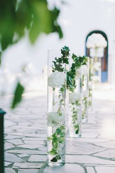 Romantic Seaside Wedding in Greece Seaside Wedding, Beach Weddings, Destination Weddings, Wedding Trends, Wedding Ideas, Greece Wedding, The Best Is Yet To Come, Wedding Ceremony Decorations, Church Wedding