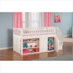 Atlantic Furniture Mini Stair Loft Bunk Set in White - AB62102