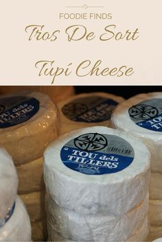 Tros de Sort is an artisanal cheese producer of Catalonia, in the mountainous region of Pallars. Tupí is a cheese named after the clay pot recipient in which it's traditionally elaborated and sometimes stored. A fermented cheese made from cow, goat or sheep's milk, it's firm yet spreadable in texture and the flavor is strong and pungent. http://devourbarcelonafoodtours.com/foodie-finds-tros-de-sort-tupi-cheese/