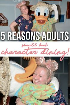 Disney character dining for adults? Why not! Bring out the kid in you by booking a reservation for a character dining experience! Here are 5 reasons adults will love it just as much as the kids! #disney #disneyworld | disney character dining 2019 | disney world character dining | walt disney world