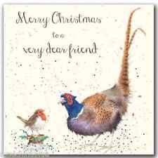 Wrendale Designs Christmas Card NEW Pheasant merry christmas to a dear friend