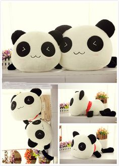 Kawaii Stuffed bolster Plush Toy pillow Animal Cute Panda Gift 70cm