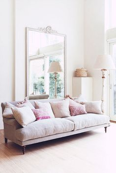 Love the soft pinks against the neutrals