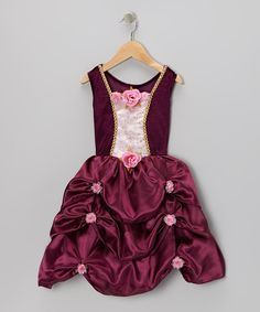 Take a look at this Maroon Rosette Pick-Up Dress - Toddler & Girls on zulily today! It's so cute!