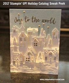 2017 Stampin' UP! Holiday Catalog Sneak Peek Samples from Thailand Incentive Trip. Hearts Come Home bundle