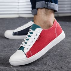 Special summer fashion new multicolor splicing men's shoes breathable canvas shoes men's shoes skateboarding US $19.80