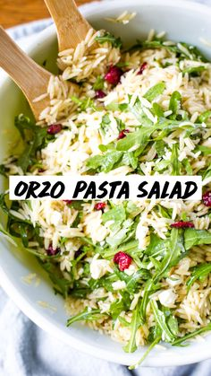 Pasta Salad Recipes, Healthy Salad Recipes, Arugula Recipes, Healthy Pasta Salad, Easy Dinner Recipes, Easy Meals, Cooking Sheet, Healthy Side Dishes, Side Salad