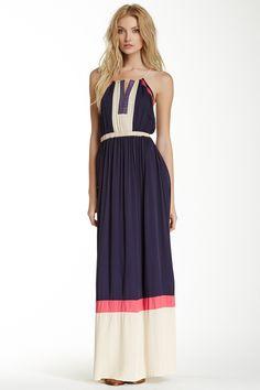 Doe & Rae Aztec Detailed Colorblock Maxi Dress (Juniors) by Doe & Rae on @nordstrom_rack