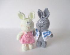 Granny toy doll knitting patterns by fluffandfuzz on Etsy