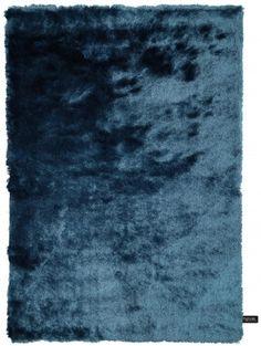Hochflor Teppich Whisper Blau 200x290 cm
