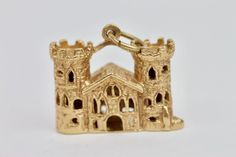 #Vintage #Solid #9k #Yellow #Gold #Castle #Charm 6.9 Grams 19mm #siren #sirenstreasure