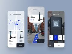 Scooter Rental App Concept pay scan qr code rent rental scooter rental scooter u. Mobile Ui Design, App Design, Flat Design, Design Thinking, App Map, Banner, Website Design Layout, Ui Design Inspiration, Quiz