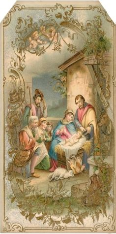 402 Best Vintage Religious Christmas Cards Images On Pinterest