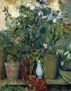 'Potted Plants', 1890 - Paul Cézanne