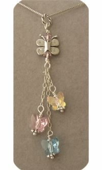 Miscarriage/ Infant Loss Remembrance Necklace- Crystal Butterflies