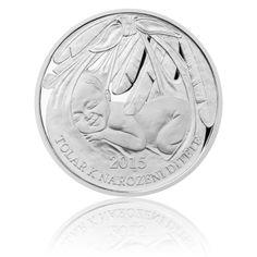Tolar k narození dítěte 2015 proof   Česká mincovna Personalized Items, Diet