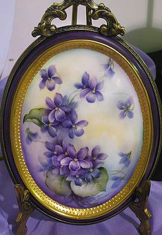 Fabric Painting, Watercolor Paintings, Lavender Cottage, Flower Cart, Sweet Violets, Small Bouquet, China Painting, All Things Purple, Gras