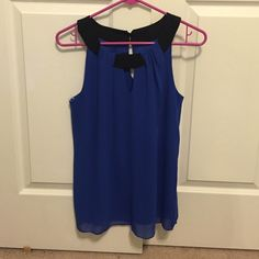 Blue Dress Shirt Has been worn but still in near perfect condition. Iz Byer Tops Blouses