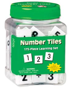 Number Tiles are perfect for presenting math problems visually! Find the Number Tiles in the Classroom Essentials Catalogue: OPUS 1244665 Page 162 See the pages here: http://www.scholastic.ca/clubs/cec/