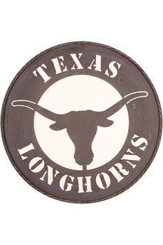 Texas Longhorn Metal Wall Art University Co Op Man Cave Design Longhorn Texas Longhorns