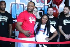 Keshia Knight Pulliam-Hartwell and Ed Hartwell celebrate grand opening of new gym