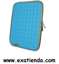 """Ya disponible Funda Approx 7 10"""" iPad azul claro   (por sólo 14.99 € IVA incluído):   -Funda para iPad/Tablet de 7-10"""" Azul -Funda para su Ipad/Tablet. Elaborado con un material suave y confortable al tacto, que lo protege de arañazos y golpes. Gama con colores vivos y muy actuales.  • Con revestimiento duradero y de buena calidad • Diseño actual que proporciona una alta protección a su equipo • Elaborado con un material suave y confortable al tacto • Protege de go"""