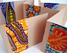 10 Wedding-invitations African wax card set with by ChilliPeppa