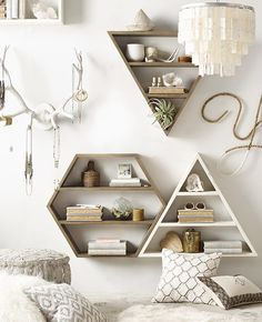 Wood Curio Shelves - 25 Things We Love from RH TEEN - Lonny