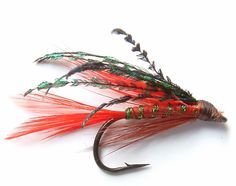 red hackle streamer