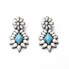 #AdoreWe Few Moda, Minimalistic Fashion Brands Online - Designer Few Moda Robin's Egg Diamond Stone Earrings MG275 - AdoreWe.com