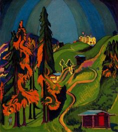 Ernst Ludwig Kirchner, Autumnal Landscape , 1936, oil on canvas