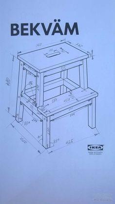 Ищу чертежи стульев раскладных, стульев-стремянок икея