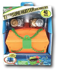 Prime Time Toys Diving Masters Treasure Chest Pool Diving Game for sale online Dove Set, Mermaid Pool, Imagination Toys, Pool Games, Learn To Swim, Pool Toys, Game Item, Prime Time, Souvenir