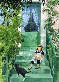 Linnea i målarens trädgård