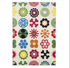 """Lusy Blom Ikea rug 4'4""""x6'5"""" ($50)."""